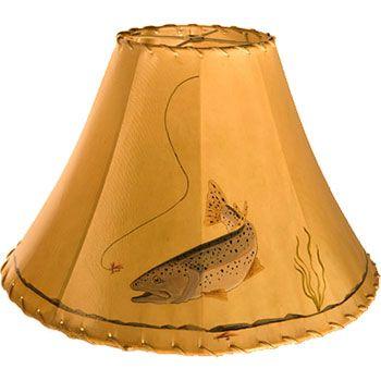 Fly Fishing Lampshade Antique Lamp Shades Lamp Shades Rustic Lamp Shades