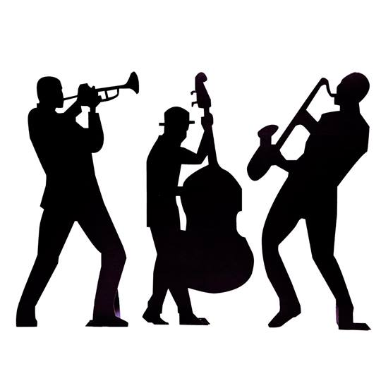 Back In Time Jazz Band Members Kit Set Of 3 Prom Nite Jazz Band Silhouette Jazz