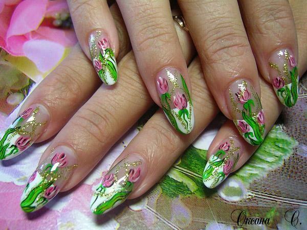 Рисунки на ногтях летние
