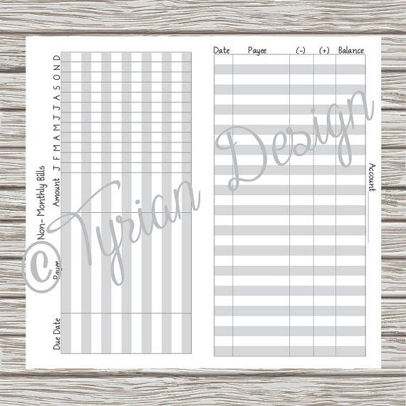personal size budget book for traveler s notebook personal size