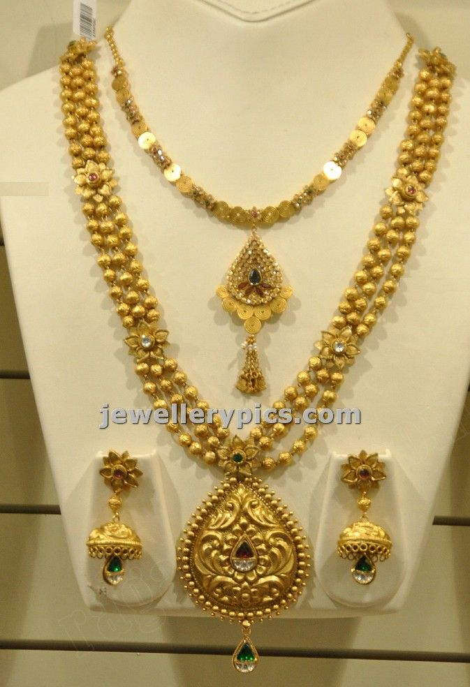 Malabar gold Gundla haram with locket - Latest Jewellery Designs ...