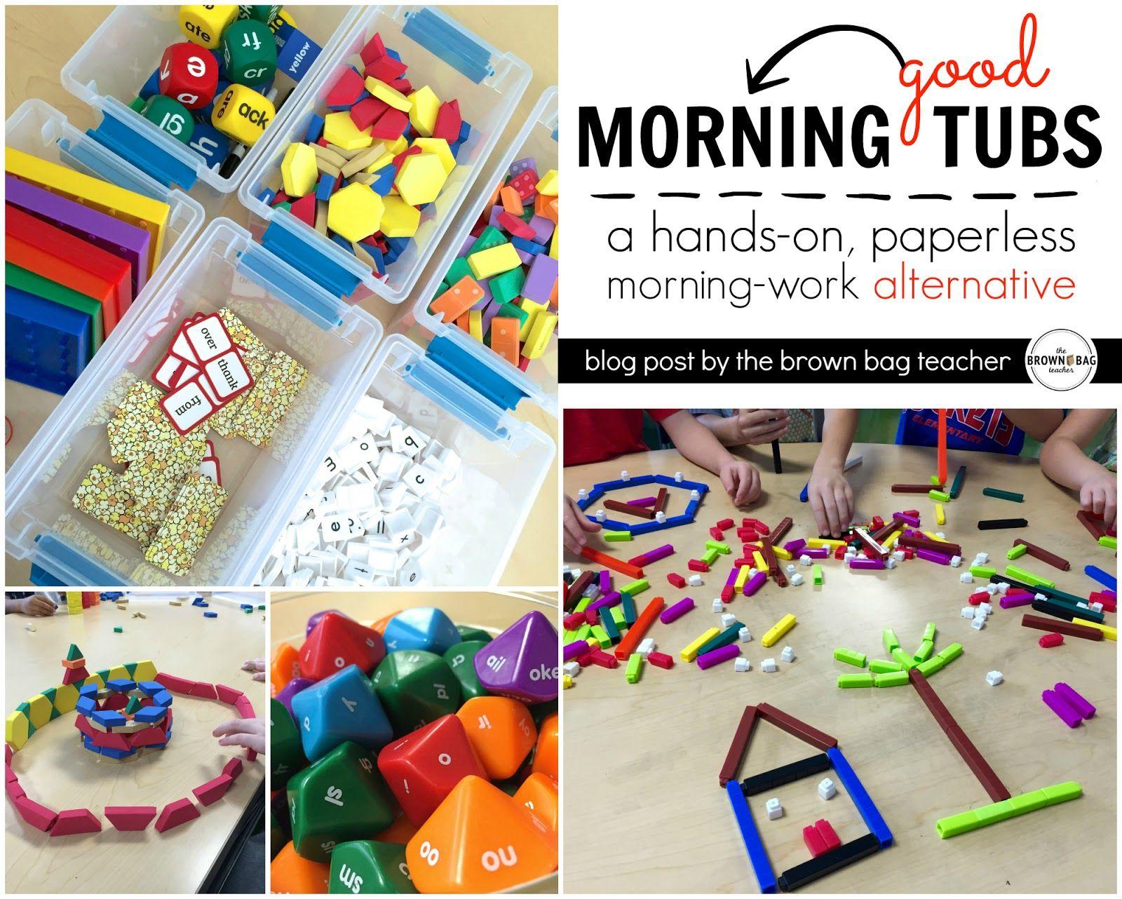 A 1st Grade Morning Work Alternative | Kindergarten