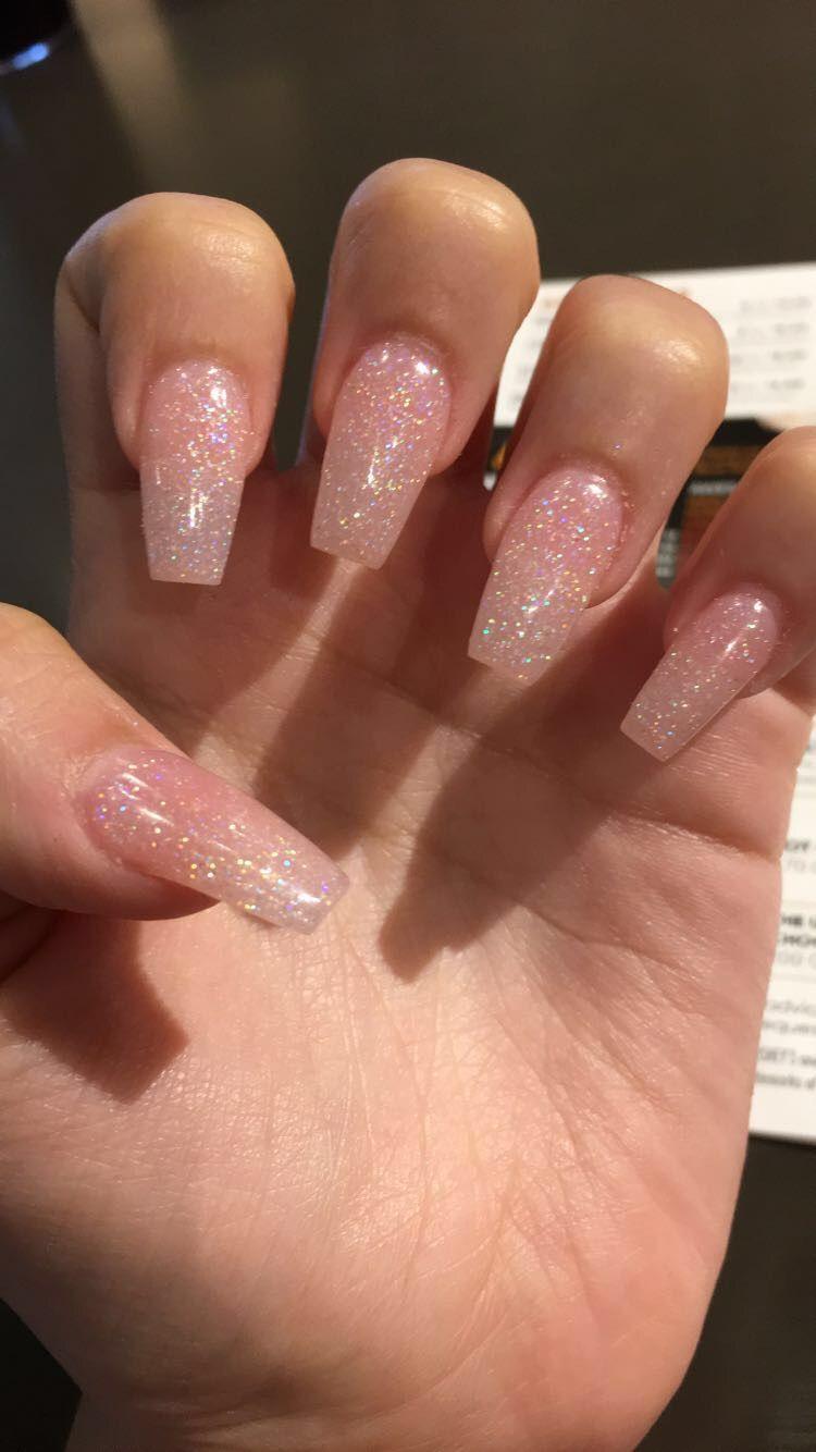 Light Pink Coffin Acrylic Nails Short Acrylic Nails Designs Pretty Acrylic Nails Cute Spring Nails