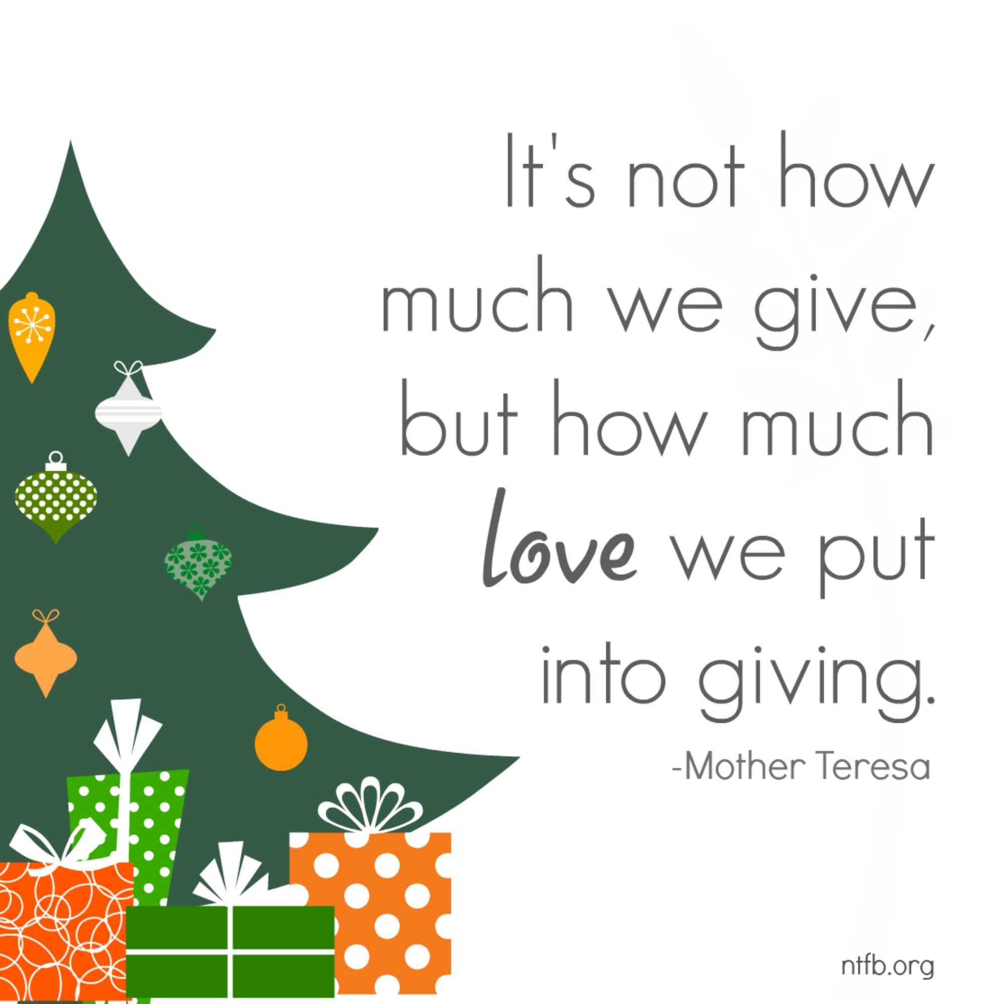 Great Reminder In The Midst Of The Hustle And Bustle Of The Holiday Season Quotes Holidayquotes Mothertere Holiday Quotes Mother Teresa Positive Thoughts