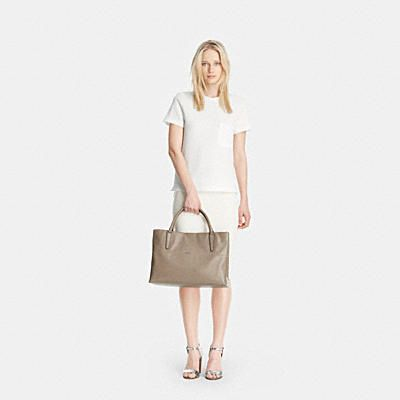 COACH: LG Soft Borough Bag in Nappa Leather