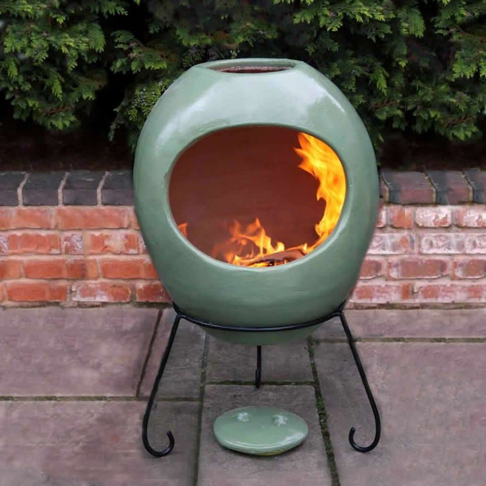 The Gardeco Contemporary Mexican Ellipse Clay Chiminea Can Be Used As An  Outdoor Fire, Or In The Home With A Chim Burner U0026 Bio Ethanol Fuel.