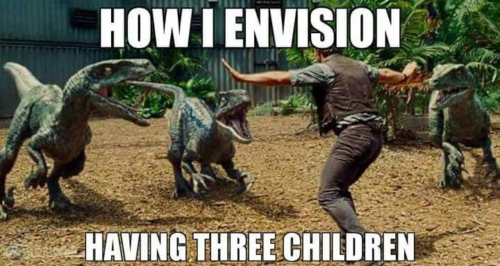 How I Envision Having Three Children Funny Parenting Memes Parenting Humor Parenting Memes