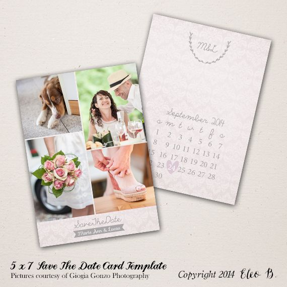 X Save The Date Template Photoshop Template STD Instant - Free save the date templates photoshop