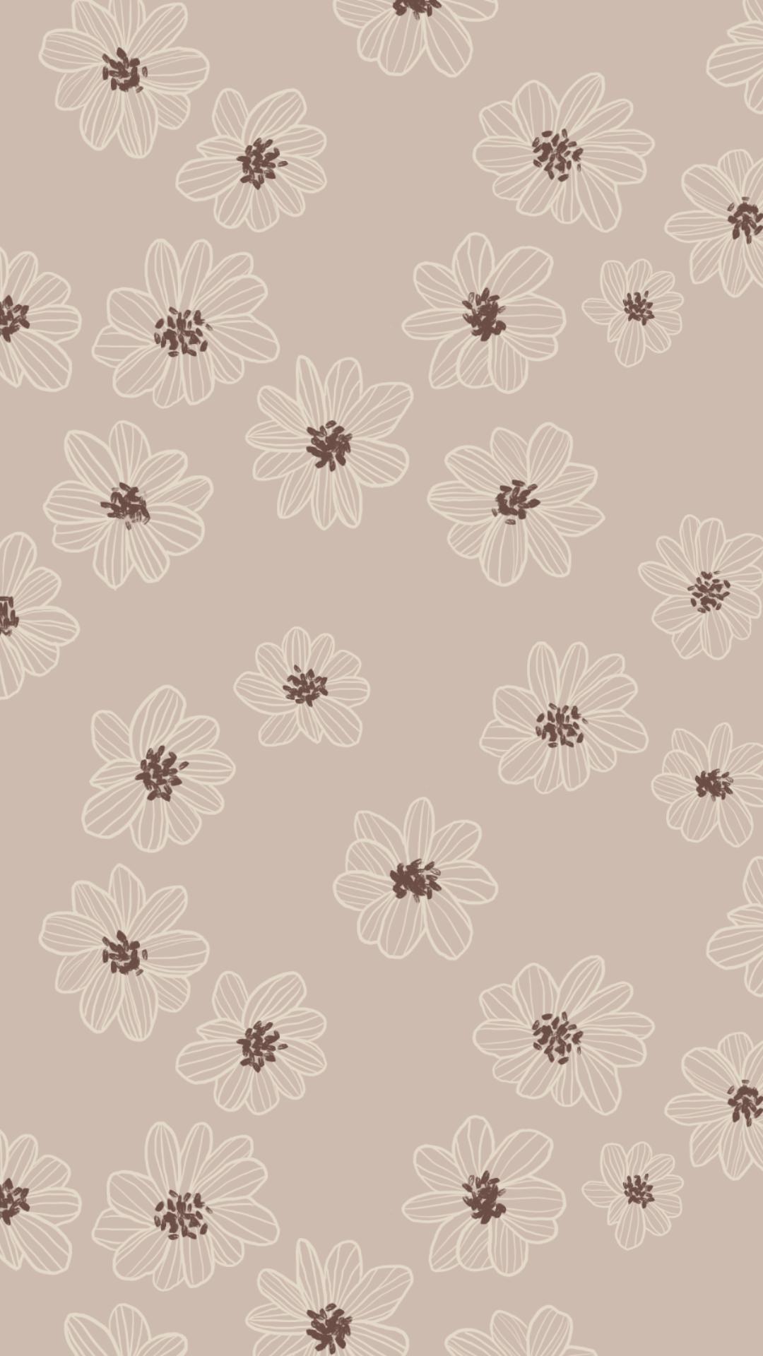 Daisy Crown Pattern Wallpaper