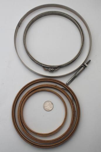 Antique Vintage Embroidery Hoops Metal Bentwood Needlework Hoop