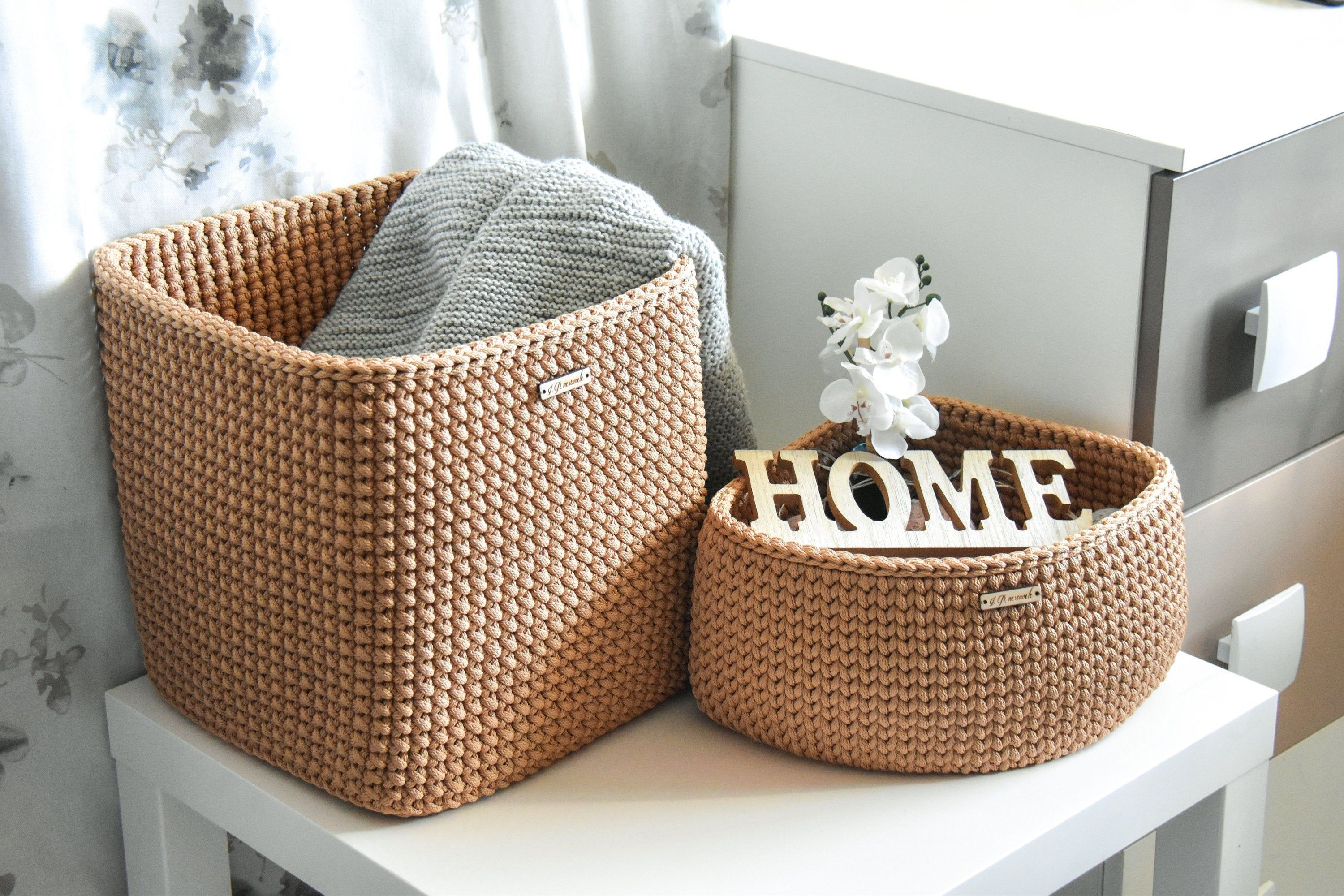 Triangle Shaped Basket Corner Storage Triangular Shape Hand Woven Basket Triangle Storage Beige Basket Rope Basket In 2020 Corner Storage Crochet Basket Wicker Laundry Basket