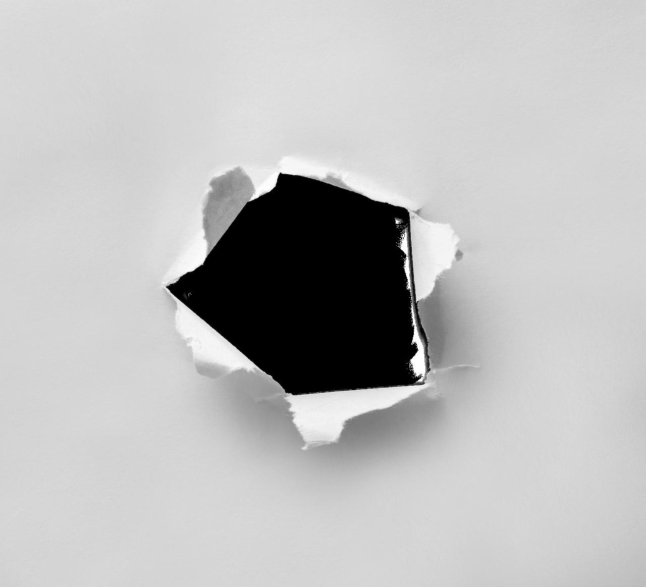 Hole, Torn, Paper, Through, Round