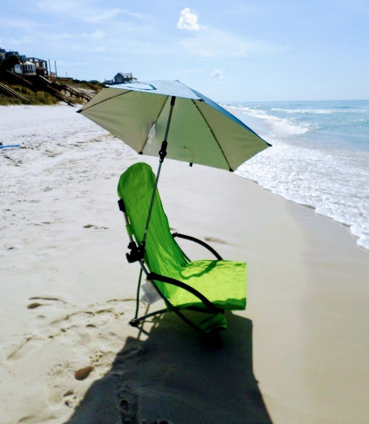 Beach Hacks For All Day Shade Beach Chair Umbrella Beach Chairs Diy Beach Hacks