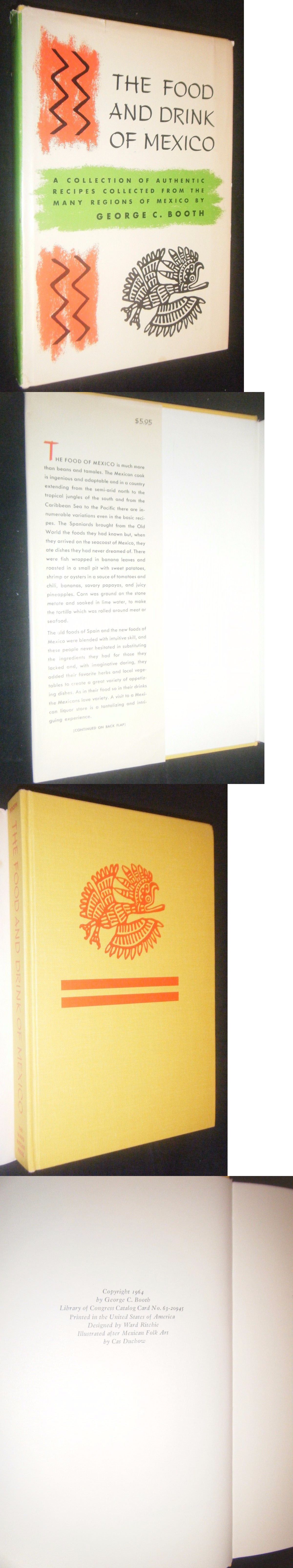 Food And Drink: The Food And Drink Of Mexico By George Booth Cas Duchow Ward Ritchie Press 1964 -> BUY IT NOW ONLY: $49.95 on eBay!