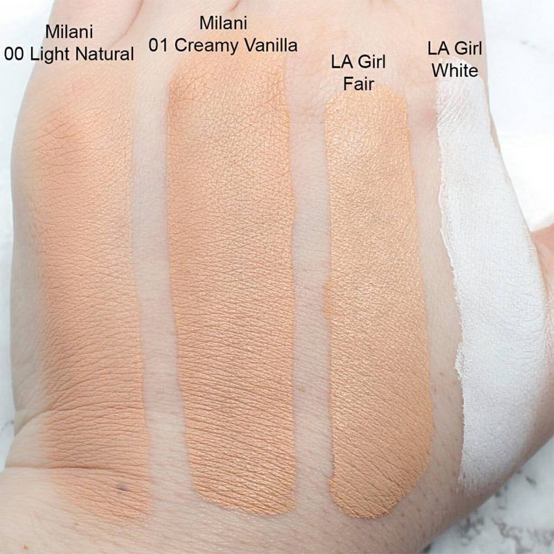Milani A Light Natural Swatch