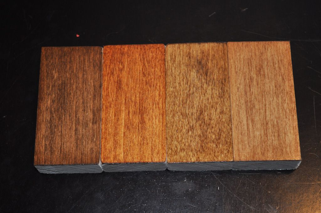 From The Left Varathane Early American Golden Mahogany Provincial Ipswich Pine
