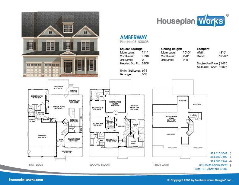 Amberway In 2020 House Plans Custom Home Plans Floor Plans