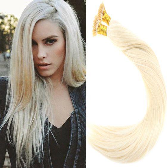 Vesunny Remy Itip Hair Extensions Color 60 Platium Blonde I Tip