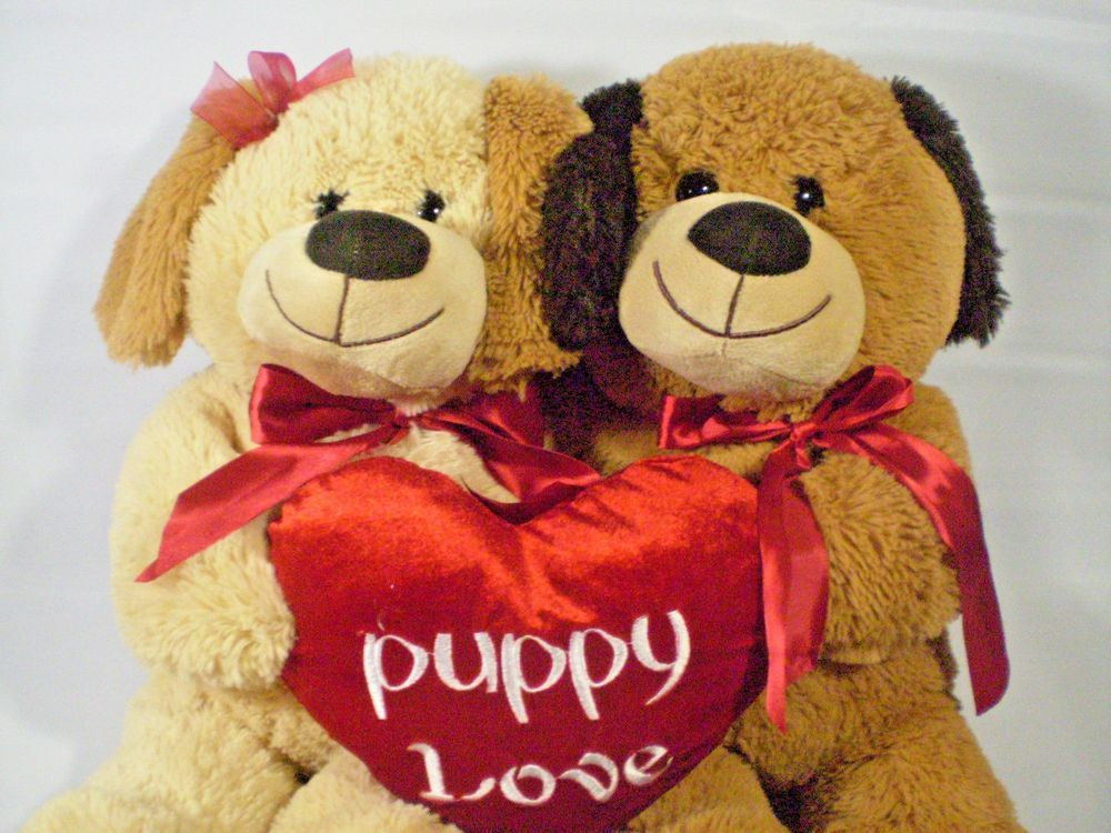 Large Puppy Dog Puppies in Love Plush Best Made Toys
