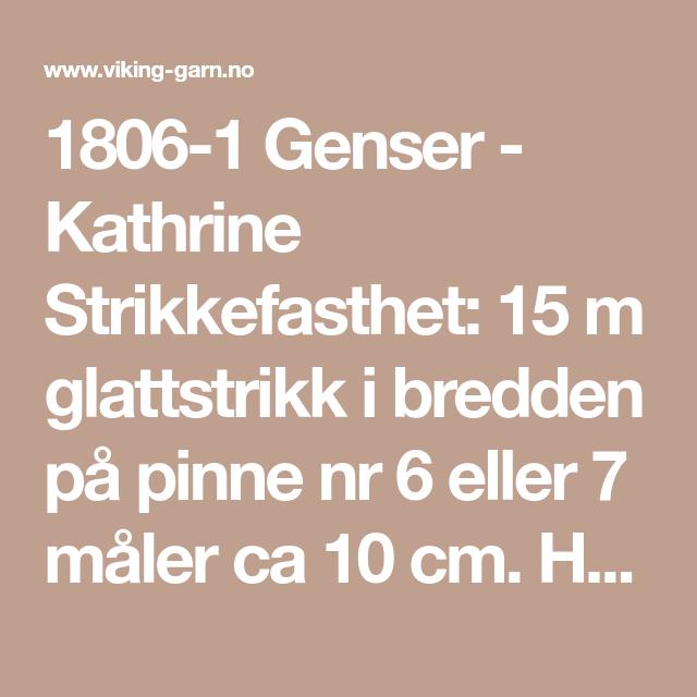 1806 1 Genser Kathrine   Strikke, Garn, Strikking
