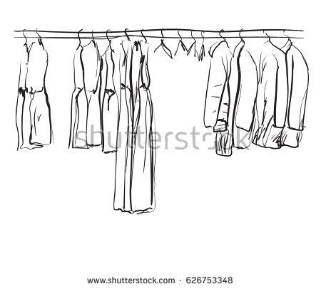 Hand Drawn Wardrobe Sketch Clothes How To Draw Hands Clothes Wardrobe