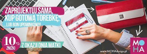 Macie już pomysł na prezent dla swojej ukochanej Mamy? ❤  Czasu jest coraz mniej dlatego podsyłamy Wam kilka pomysłów   Z okazji tego wspaniałego święta przygotowaliśmy dla Was promocję! Do 26 maja -10%!  Zapraszamy!   http://mohadesign.pl/ http://mohadesign.pl/sklep http://mohadesign.pl/bon