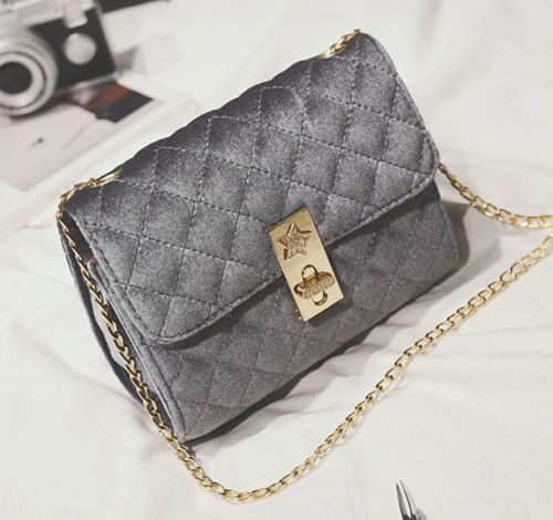 a50b29e498 Women-039-s-Velvet-Mini-Shoulder-Bag-Chain-Purse-Handbag-messenger ...