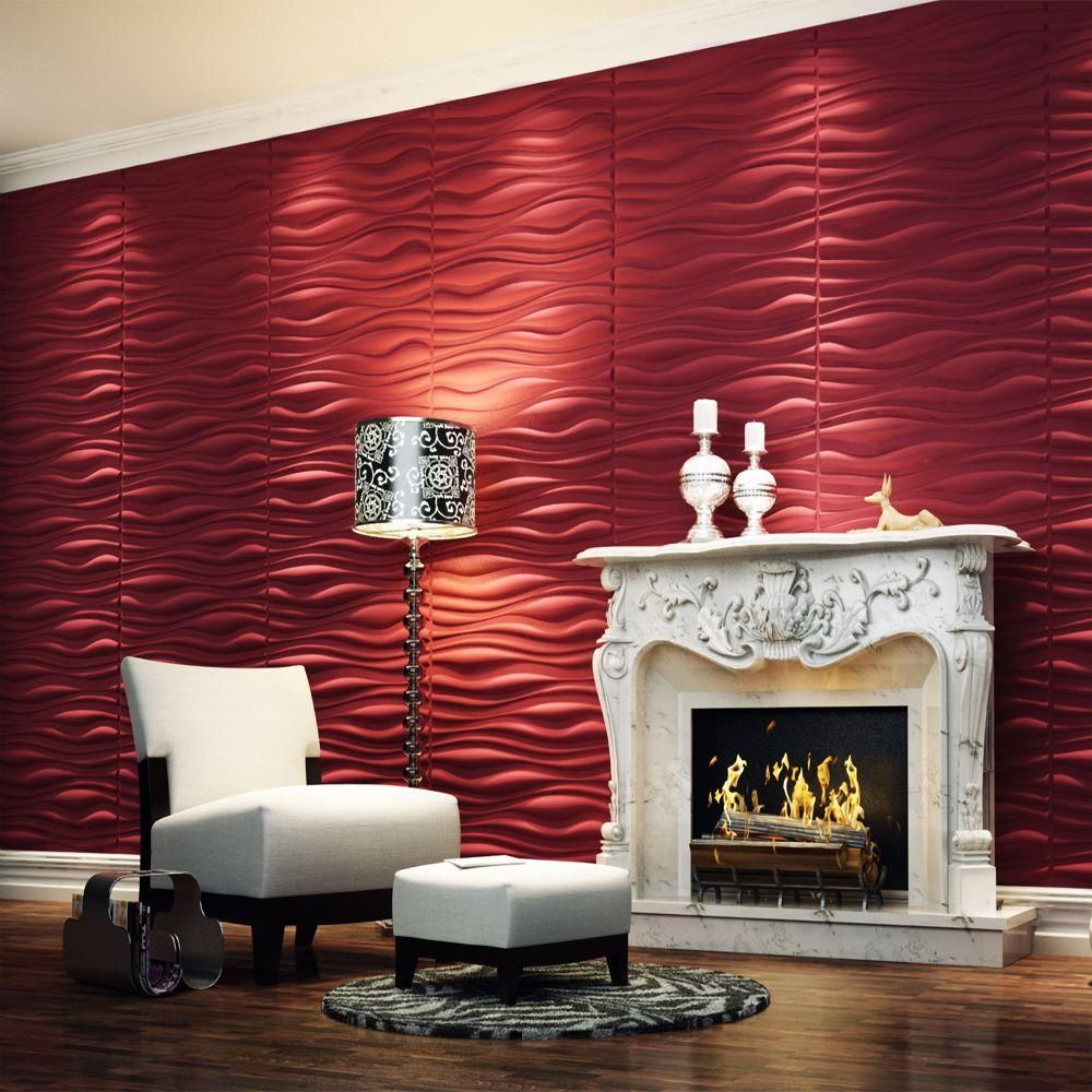 threedwall 32 4 in x 21 6 in x 1 in off white plant on wall panels id=60247