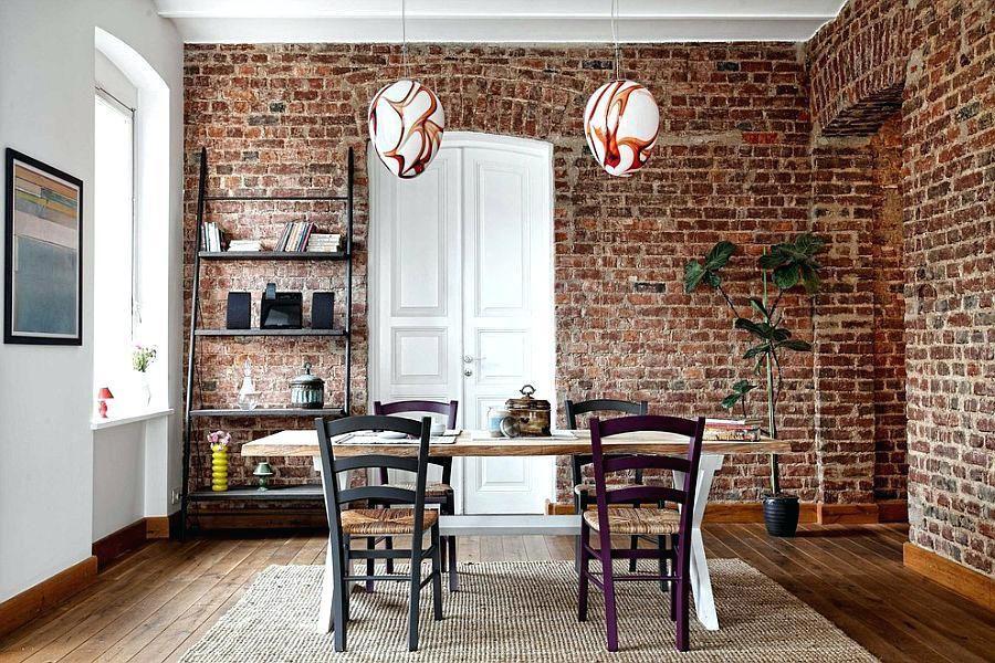 Creative Ideas Exposed Brick Wall Decor Brick Living Room