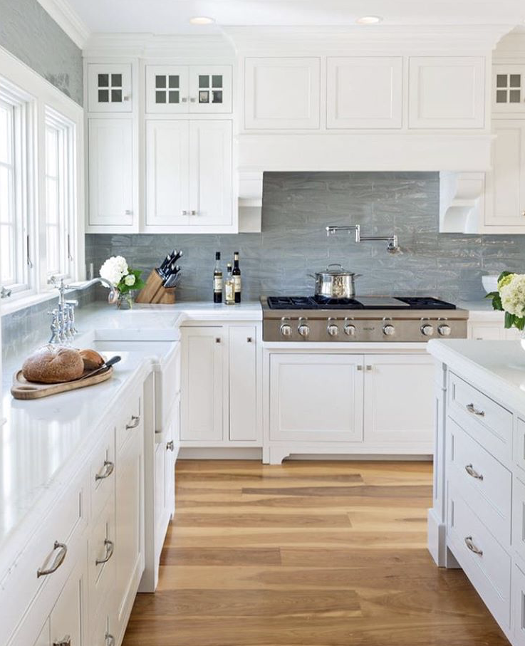 Transitional Kitchen Featuring Top S Cabinet Hardware