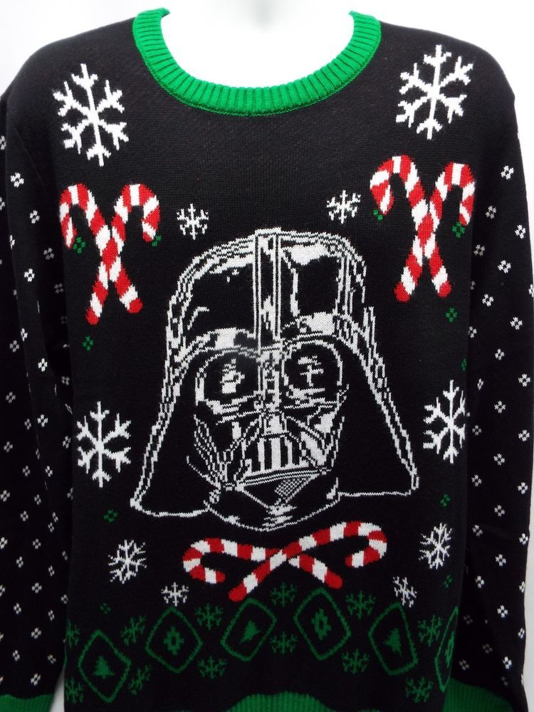 darth vader ugly christmas sweater l star wars knit candy cane dark side 9157 starwars uglychristmas