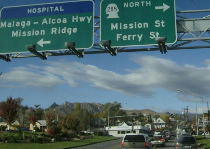 S Mission St SOUTHBOUND to Malaga-Alcoa Hwy & Mission Ridge