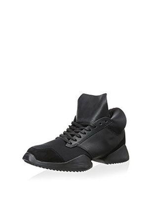 Rick Owens Men's Nylon Adidas Sneaker (Black)