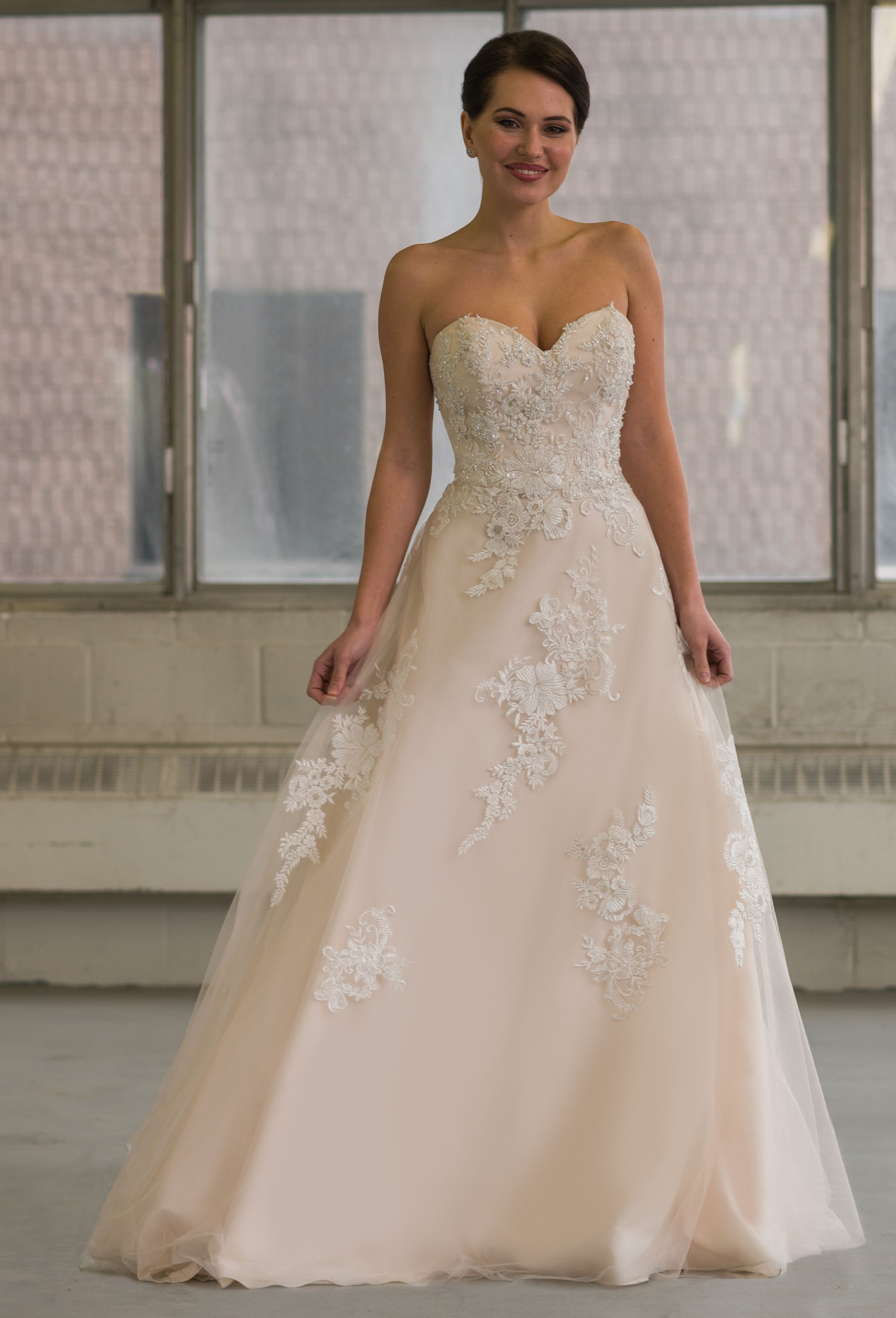 Bridalane Style 804 Lace And Tulle Wedding Gown Available In Sizes 00 30
