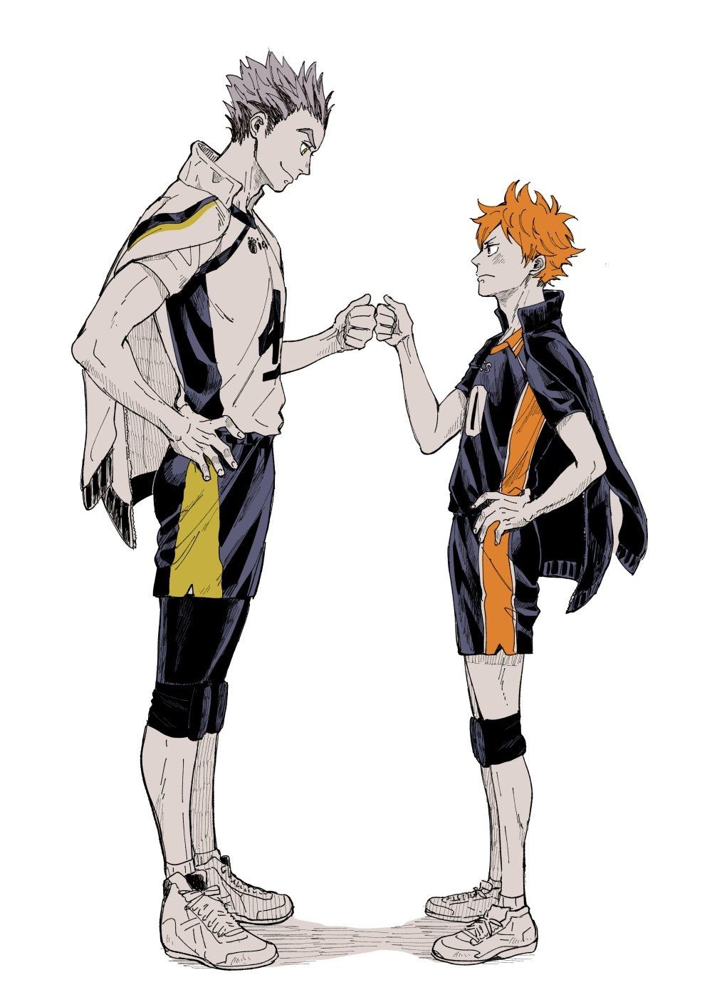 Owl dad supporting his crow son | Haikyuu
