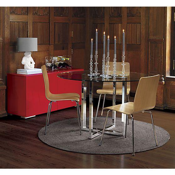 Silverado Chrome 47 Round Dining Table Round Dining Table