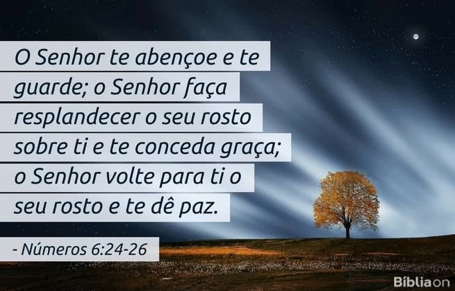Conhecido O Senhor te abençoe e te guarde; o Senhor faça resplandecer o seu  SG42