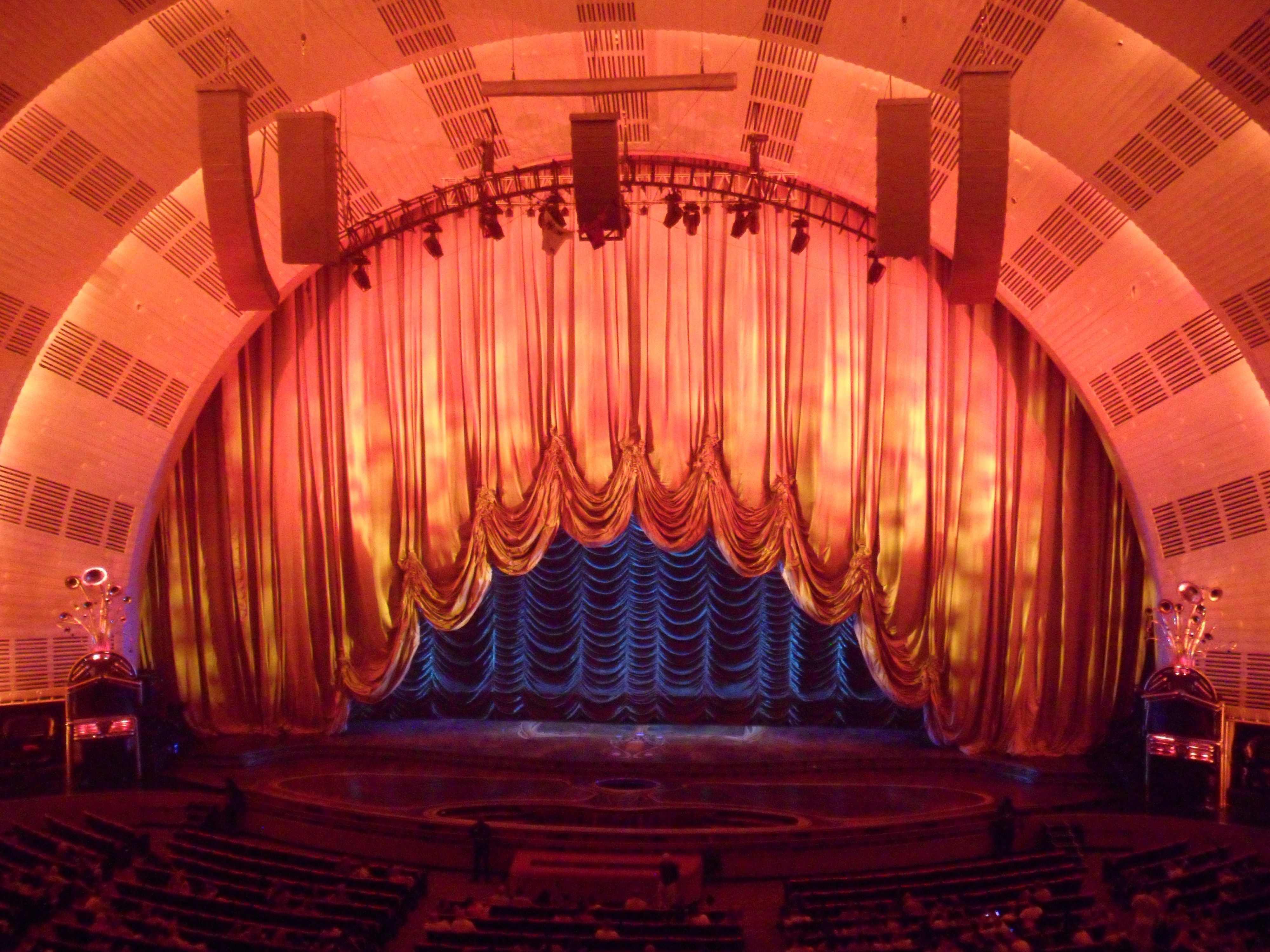 Free coloring pages of stage curtains - Radio City Music Hall Stage Curtain