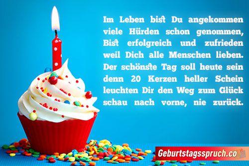 ᐅ Top Spruche Zum 20 Geburtstag Gluckwunsche Fur Sie Und