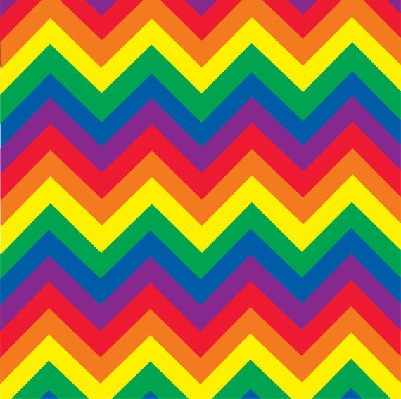 Patterned Vinyl Rainbow Chevron Craft Vinyl Sheet HTV Or Adhesive Custom Rainbow Pattern