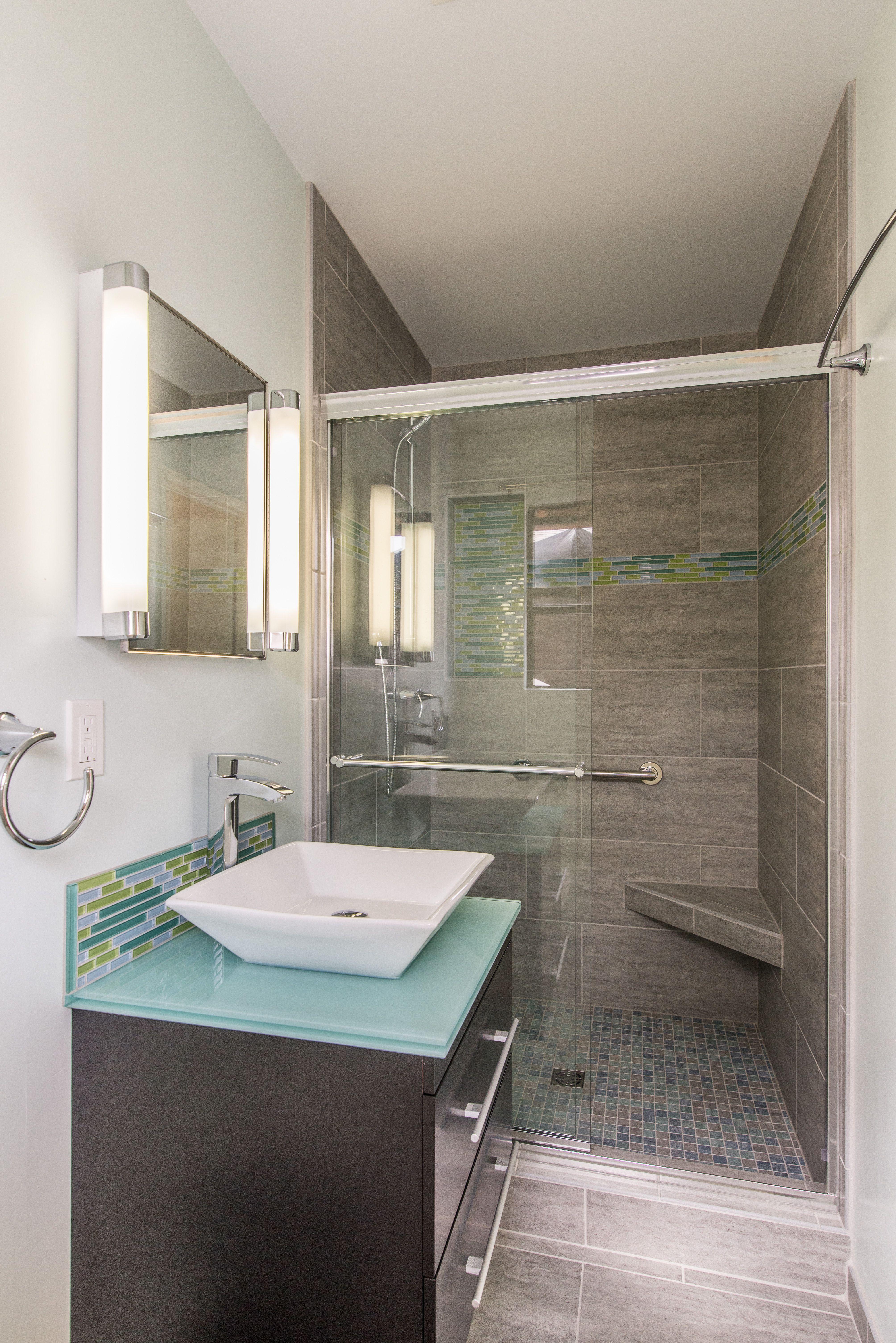 Small Modern Master Bath Pompeii Kitchen & Bath Design