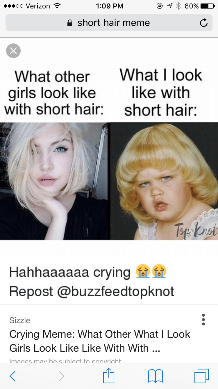 Pin By Kelsey Brandsted On Hair Makeup Hair Meme Hair Humor Short Hair Styles