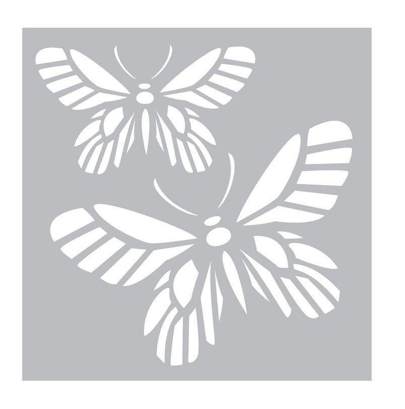 "Fab Template: Fab Scraps - Stencil - Butterfly (8""x8"")"