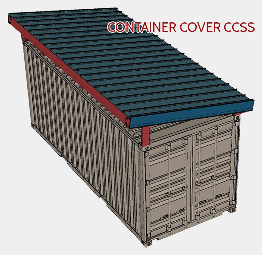 Podroof Shipping Container Roof Kits By Shield Shipping Container Container House Roof Design