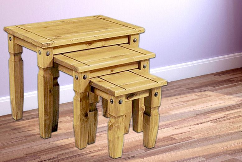 3pc Pine Nest of Tables
