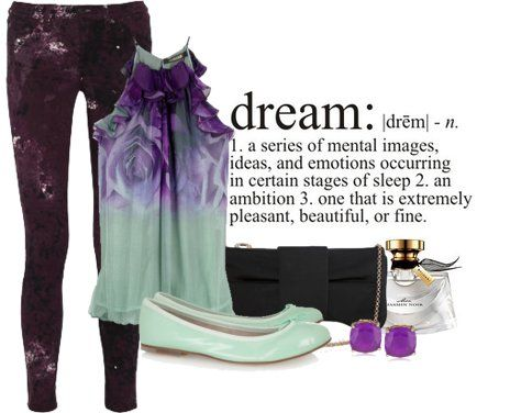 ShopStyle: Nature Inspiration #34: AURORA BOREALIS by anncaye || I love that top!!
