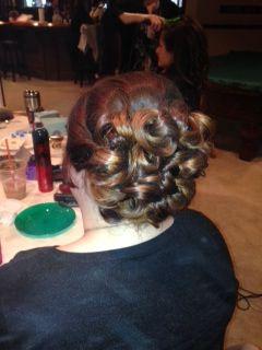 updo big curls wedding hair
