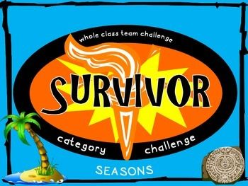 Survivor Category Challenge Seasons Freebie Survivor Theme Survivor Synonyms And Antonyms