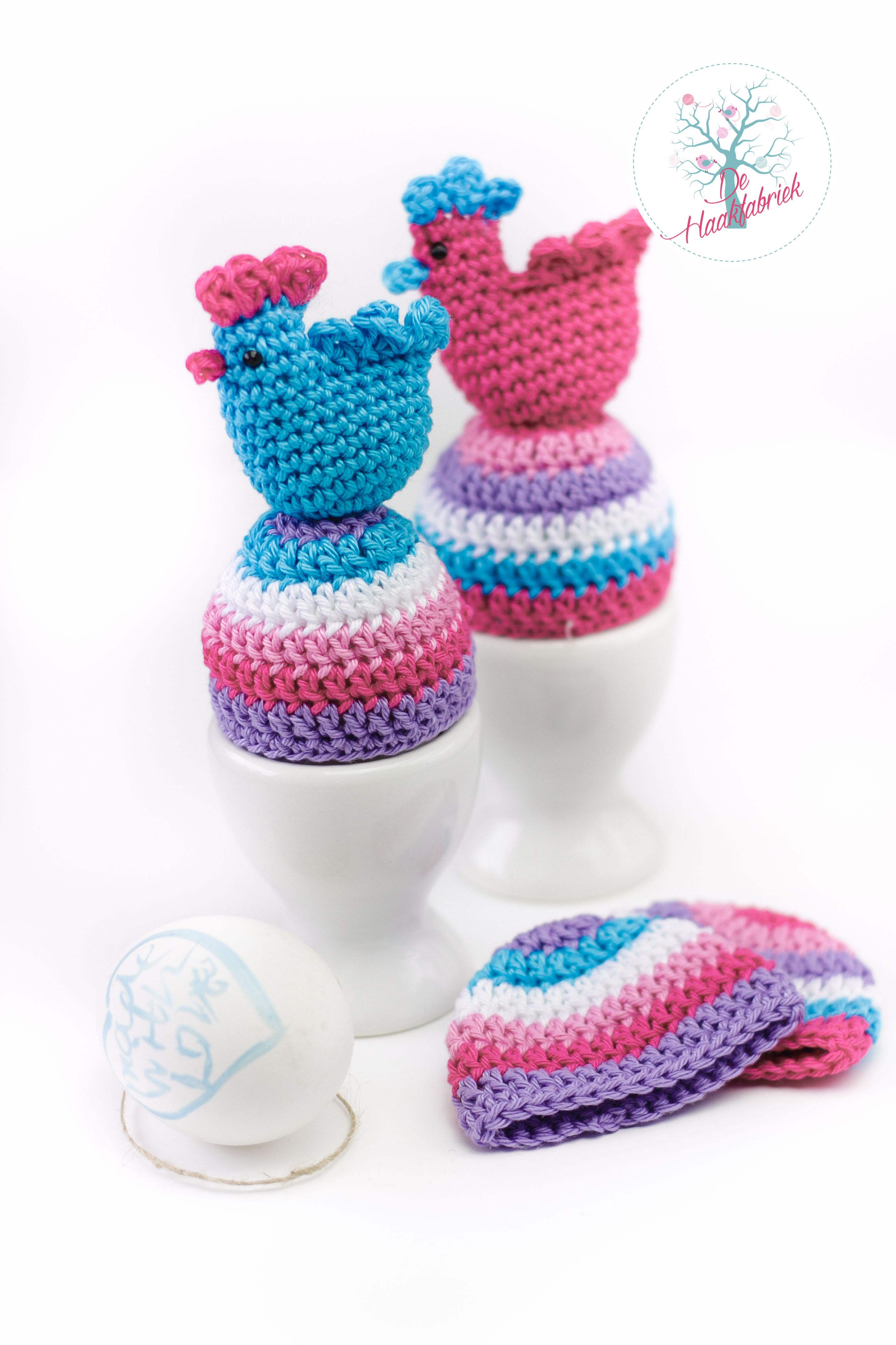 Egg Cozies Happy Easter www.dehaakfabriek.nl | Aegge varmer crochet ...