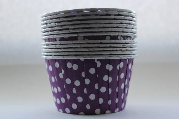 Purple Polka Dot Portion Cups set of 10 by PolkaDotPinwheel, $3.00